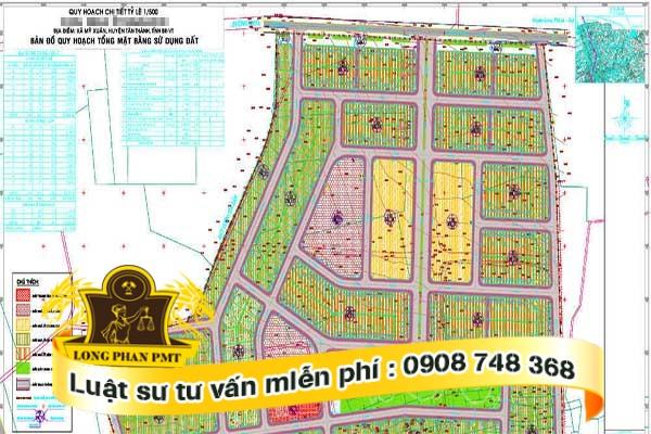 Quy hoạch đất phải có bản đồ chứa đựng diện tích đất quy hoạch