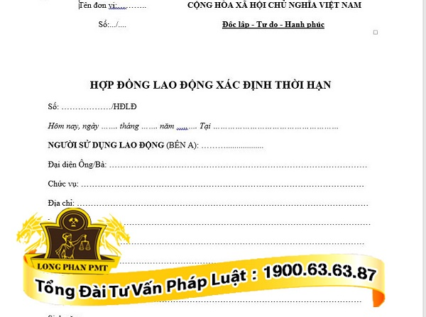 hop dong lao dong theo quy dinh cua blld