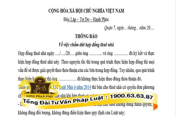 mau don de nghi cham dut hop dong thue nha