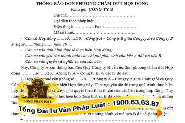 huong dan viet mau thong bao don phuong cham dut hop dong