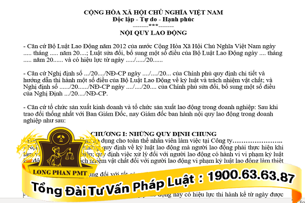 mau noi quy lao dong cong ty
