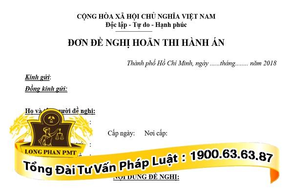 huong dan viet mau don de nghi hoan thi hanh an dan su