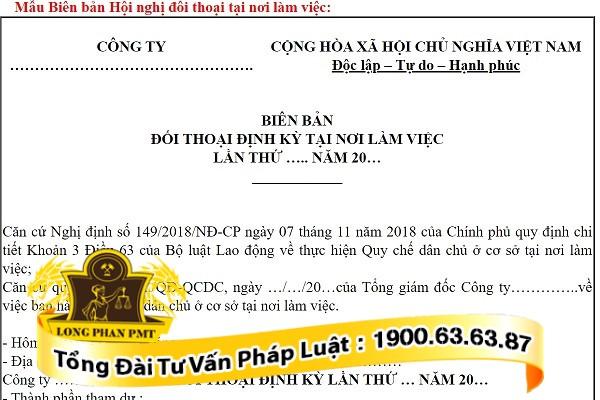 huong dan mau bien ban hoi nghi doi thoai tai noi lam viec