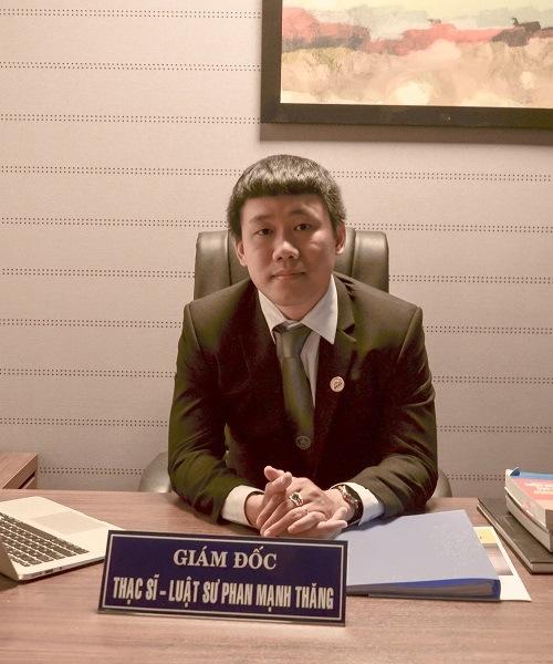 Thạc sĩ luật sư Phan Mạnh Thăng công ty Luật long phan pmt